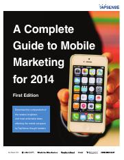 A Complete Guide to Mobile Marketing for 2014.pdf