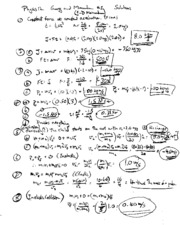 PHYSICS 12 ENERGY AND MOTION WORKSHEET 6 SOLUTIONS