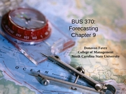 Classes 14, 15 and 16 - Forecasting - Chap 9