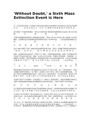 02CN-'Without Doubt,' a Sixth Mass Extinction Event is Here.docx
