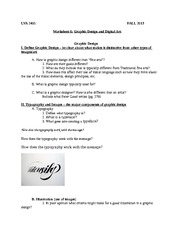 Worksheet 6 Graphic Design