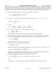 Problem Set 7 Solution on Modern Physics