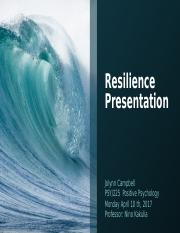 Resilience Presentation