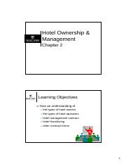 Ch02 - Hotel Ownership & Management