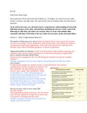 Management- Final Study Guide