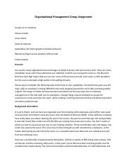 Organizational Management Group Assignment-bpgm 241.docx