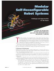 Modular self reconfigurable
