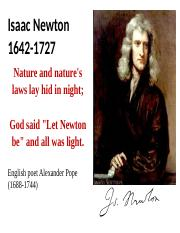 Week-3 - Newton. Chapter 13
