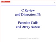 Lecture 05a - Function Calls and Array Access