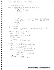 Calc 3 Notes, Arc Length and Curve