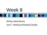 Week 8 - Writing a Book Review