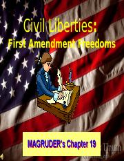 Reg Gov 19 Civ. lib. 1st Amend Freedoms Norman