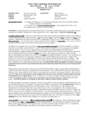 General Psychology SYLLABUS SPRING 2013 1230 CLASS 12-17-12