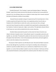 Freedom from fear essay