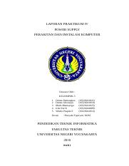 LAPORAN PRAKTIKUM POWER SUPPLY KELOMPOK 5 E1