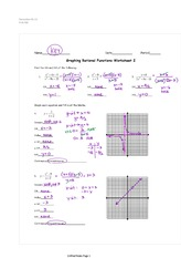 Graphing Rational Functions Assignment Answers