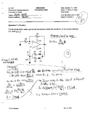 EE 323 2003 Midterm Solutions