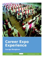 Career Expo Experience Paper