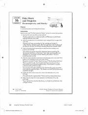 Key L16 Polarity Pdf 128 Lesson 16 163 Unit 2 Smells Lesson L6