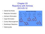 Lecture 32 Chapter 23 part 2 Reactions with Amines Notes