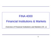 FINA4000_Overview