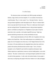 U.S. antitrust essay