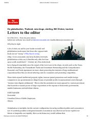 Letters to the editor _ The Economist