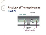 First Law of Thermodynamics Part IV