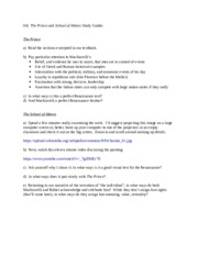 04)  The Prince and School of Athens study guides
