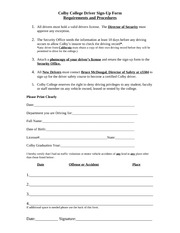 Colby Driver Signup form