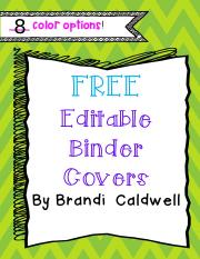FREEEditableBinderCovers