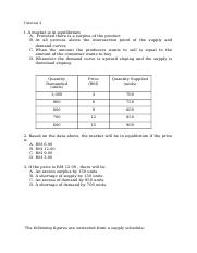 Economics : Supply & Demand (MCQ) - Part 1.docx