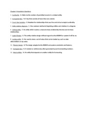 Chapter 4 Vocabulary Questions
