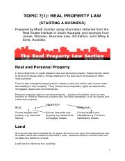 Topic 7(1) - Real Property Law.pdf