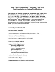 Study Guide-Final Exam, Making Moral Decisions(4)