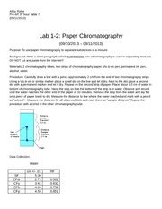 Lab 1-2 Chromatography-2