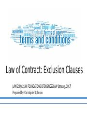 LAW2104 Exclusion Clauses.pptx