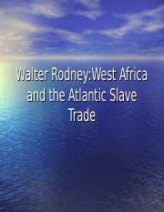 Walter Rodney--West Africa & the Atlantic Slave Trade