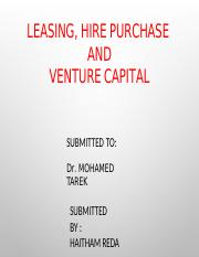 LEASING, HIRE PURCHASE AND VENTURE CAPITAL.pptx
