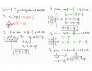 Unit Trigonometric Equations and Identities