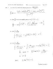 AP Calculus 12 Challenge Exam 2011 Solutions