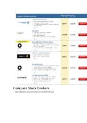 Compare Stock Brokers