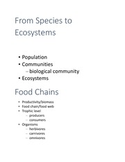 Environmental Science- From Species to Ecosystems