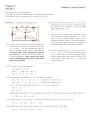 Physics 21 Exam 1S 2012