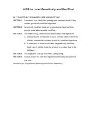 A Bill to Label Genetically Modified Food.pdf