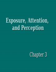 Chapter03 Exposure Attention & Perception