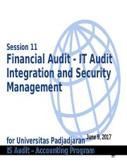 11 - FinAudit - IT Audit Integration & Security Mgt ver 1