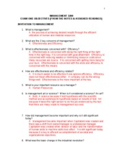 MGT Study Guide- Test 1