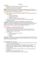 example outline for essay