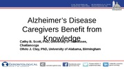 Alzheimer's Caregivers Benefit from Knowledge of Memory Loss